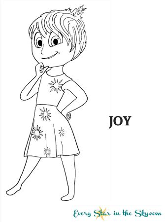 coloring pages inside out joy inside out every star in the sky