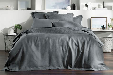 King Quilt Covers Australia by Linen Smoke Sk Quilt Cover King Australia