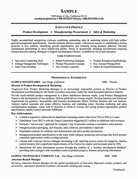 Best Marketing Resume Templates by Marketing Resume Exles 2018 Listmachinepro