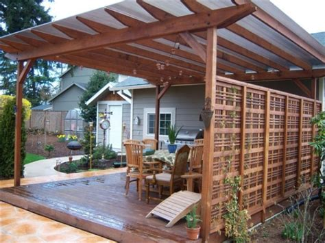 deck roof ideas future deck idea with the wall pergola on one side