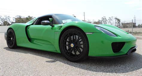 porsche viper green this porsche 918 spyder sports viper green paint 2 mill