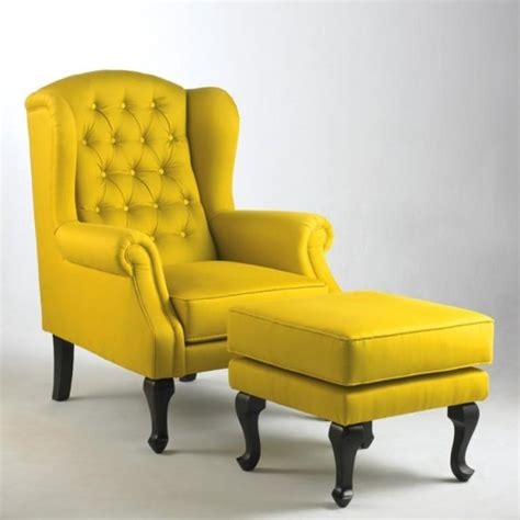 Yellow Chairs Upholstered Design Ideas Fabolous Yellow Wingback Chair Design Ideas Rilane