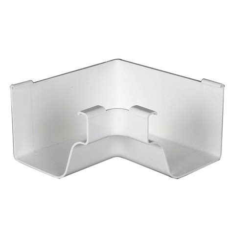 amerimax home products white vinyl k style inside mitre