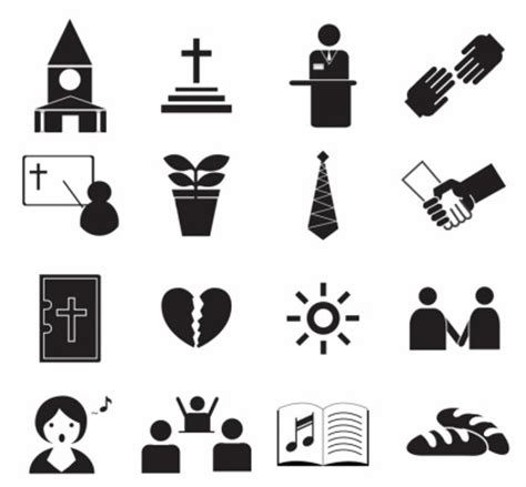 Dasi Salib ikon hitam ibadah vektor icon vektor gratis gratis