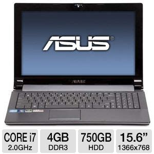 Notebook Asus A53sd I7 Windows7 4gb 750gb Geforce 2gb asus n53sn xr2 laptop computer intel i7 2630qm 2 0ghz 4gb ddr3 750gb hdd dvdrw nvidia
