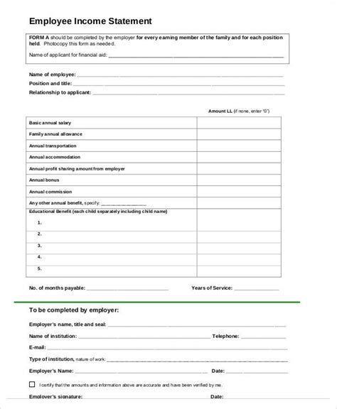 Free Employee Earnings Statement Template Shatterlion Info Free Employee Earnings Statement Template