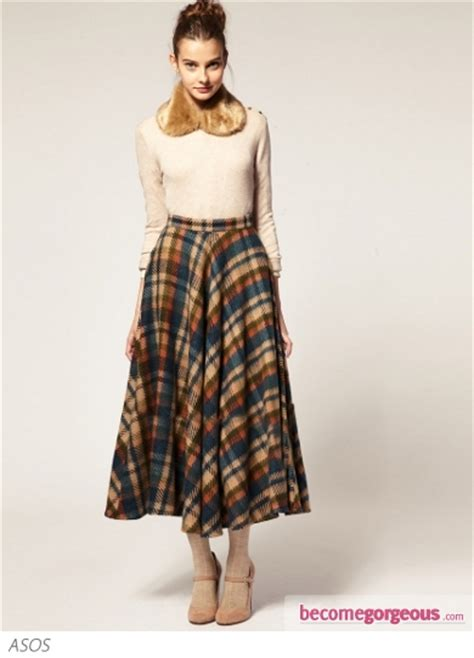 pictures chic winter skirts 2012 asos midi skirt in