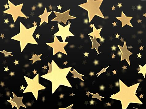 wallpaper with gold stars golden stars on black background psdgraphics