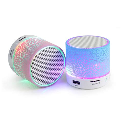 Lu Led Speaker led portable mini bluetooth speakers wireless free speaker with tf usb fm mic blutooth