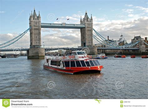 thames river cruise london bridge cruise boat and tower bridge stock image image 2385763