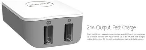 Adapter Romoss Zola Dual Output romoss ac12 icharger dual output foldable adapter