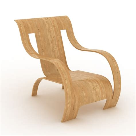plywood armchair 3d plywood armchair