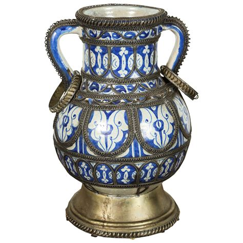 Moroccan Vase by Antique Moroccan Ceramic Vase From Fez