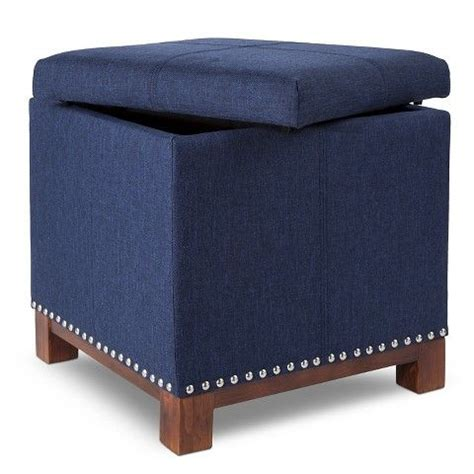 Storage Ottoman Blue Best Storage Design 2017 Navy Blue Storage Ottoman