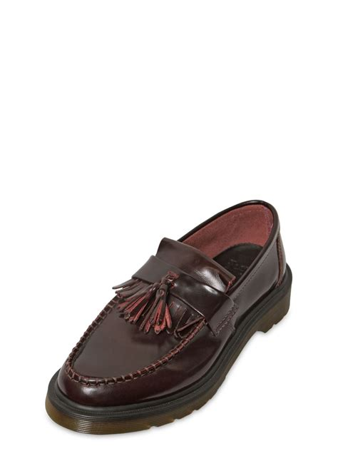 dr martens loafers with tassels lyst dr martens 30mm adrian tassel leather loafers