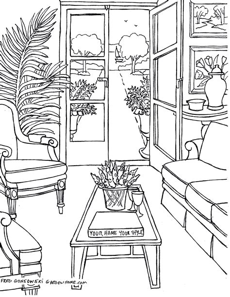 drawing room colour games coloring pages for adults some drawings of living rooms
