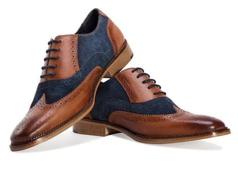mens redfoot leather classic smart two tone gatsby brogue