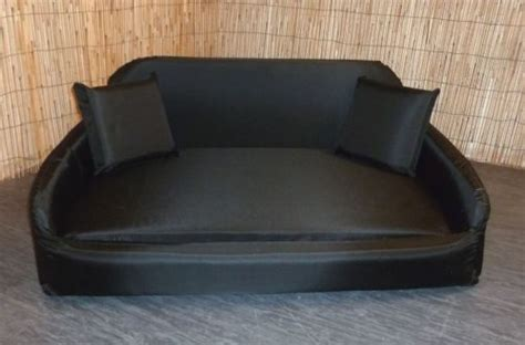 wipe clean sofa zippy pet dog bed waterproof wipe clean sofa large black