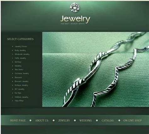 web design inspiration jewelry a selection of great looking green websites to inspire you