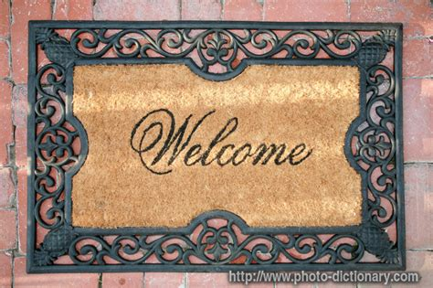 Define Doormat by Welcome Mat Photo Picture Definition At Photo Dictionary
