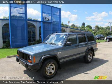gunmetal blue jeep gunmetal pearl 1998 jeep cherokee sport 4x4 mist gray