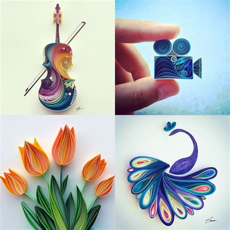 Craft Paper Designs - colorful quilled paper designs by runa colossal