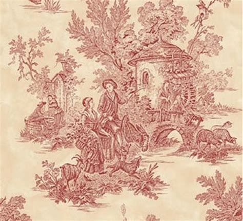 toile pattern history glenda s world 44 red toile papers