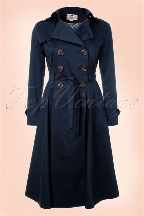 swing trench coat dietrich swing trench coat in navy