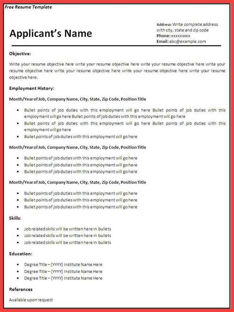resume sle download pdf memo exle