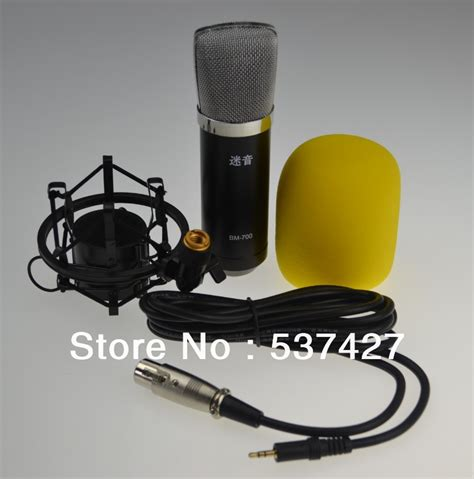 wholesale free shipping pro dj and studio recording electret condenser microphone no need