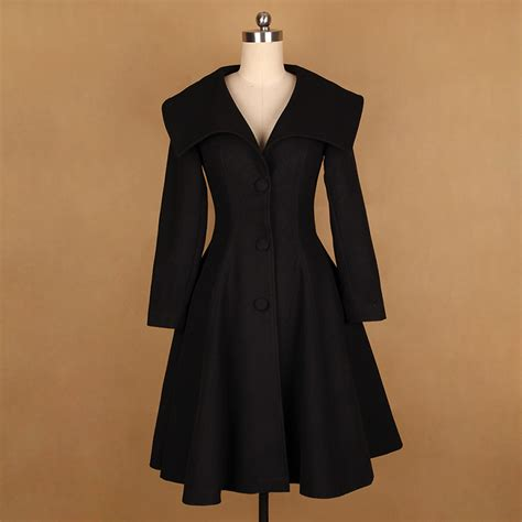 plus size wool swing coat popular black swing coat buy cheap black swing coat lots