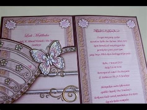 vidio membuat undangan pernikahan cara membuat undangan pernikahan sendiri youtube