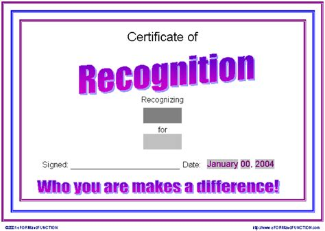 recognition certificate templates certificate of recognition template picture image