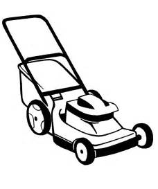 Lawn Mower Colouring Pages Page 3 sketch template