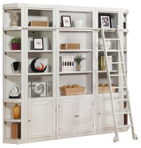 white bookcase wall unit boca 5 library bookcase wall unit cottage white