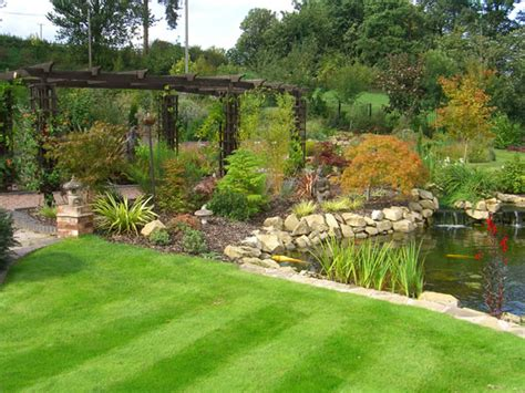 large backyard landscaping ideas large garden ideas