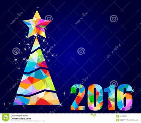 imagenes de navidad del 2016 dise 241 o triangular 2016 del 225 rbol de navidad stock de