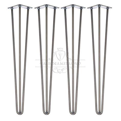 gambe da tavolo gambe in ferro per tavoli in legno massello modello slim