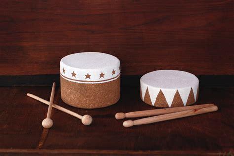 diy cork drum wooden drumsticks  merrythought