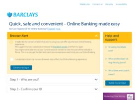 Ibank Barclays Co Uk Informe Step 1 Who Are You Log