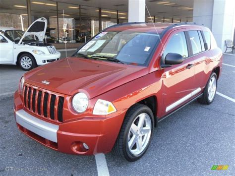 orange jeep compass 2008 sunburst orange pearl jeep compass limited 26744162