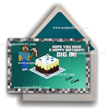 instant download printable minecraft from scraps of life al