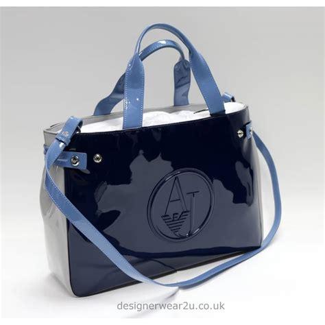 Large Patent Shopper Bag From Accessorize by Armani Armani Colour Patent Tote