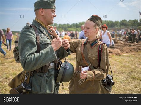 german soldier vs soviet nelidovo russia july 12 2014 image photo bigstock