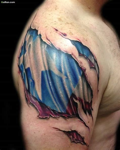 ripped flag tattoo 35 most amazing 3d ripped skin tattoos best 3d torn