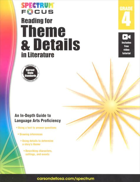 themes in literature practice reading for theme and details in literature grade 4