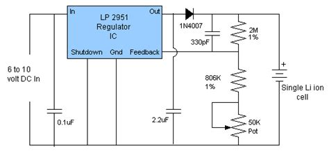 lithium ion battery charger circuit li ion battery charger circuit circuit diagram