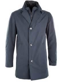 Bugatti Coats And Jackets Bugatti Navy Gilet Insert Mac Coat Louis Copeland And Sons