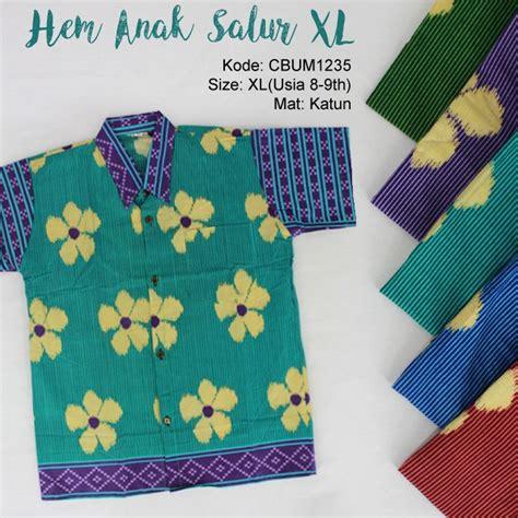 Kaos Salur Anak Size Xl 2 kemeja batik anak motif salur bunga xl kemeja murah