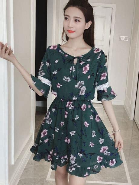 Dress Rajut Korea Green Shireen summer dresses with sleeves 2018